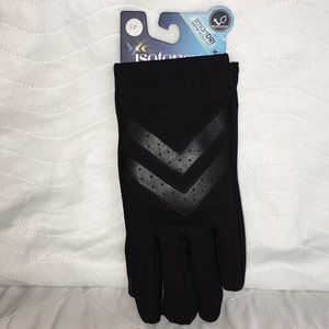 NWT Mens Black Isotoner Chevron Gloves 🧤Size LG